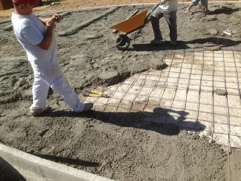hormigonar jardines para ampliar aparcamientos obras y