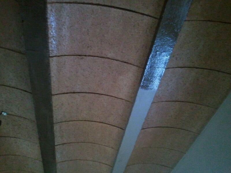 Pintar viga de hormig n imitaci n madera obras y - Hormigon imitacion madera ...